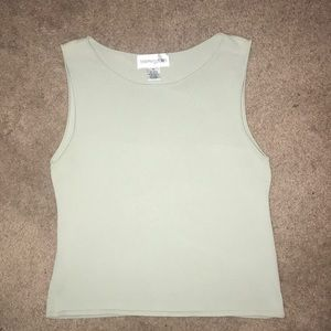 Bloomingdales light green knit tank style top PL